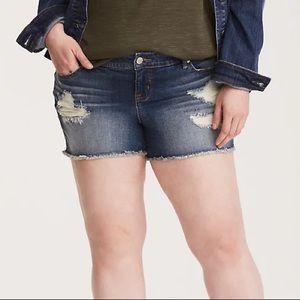Torrid Distressed Cutoff Style Denim Jean Shorts